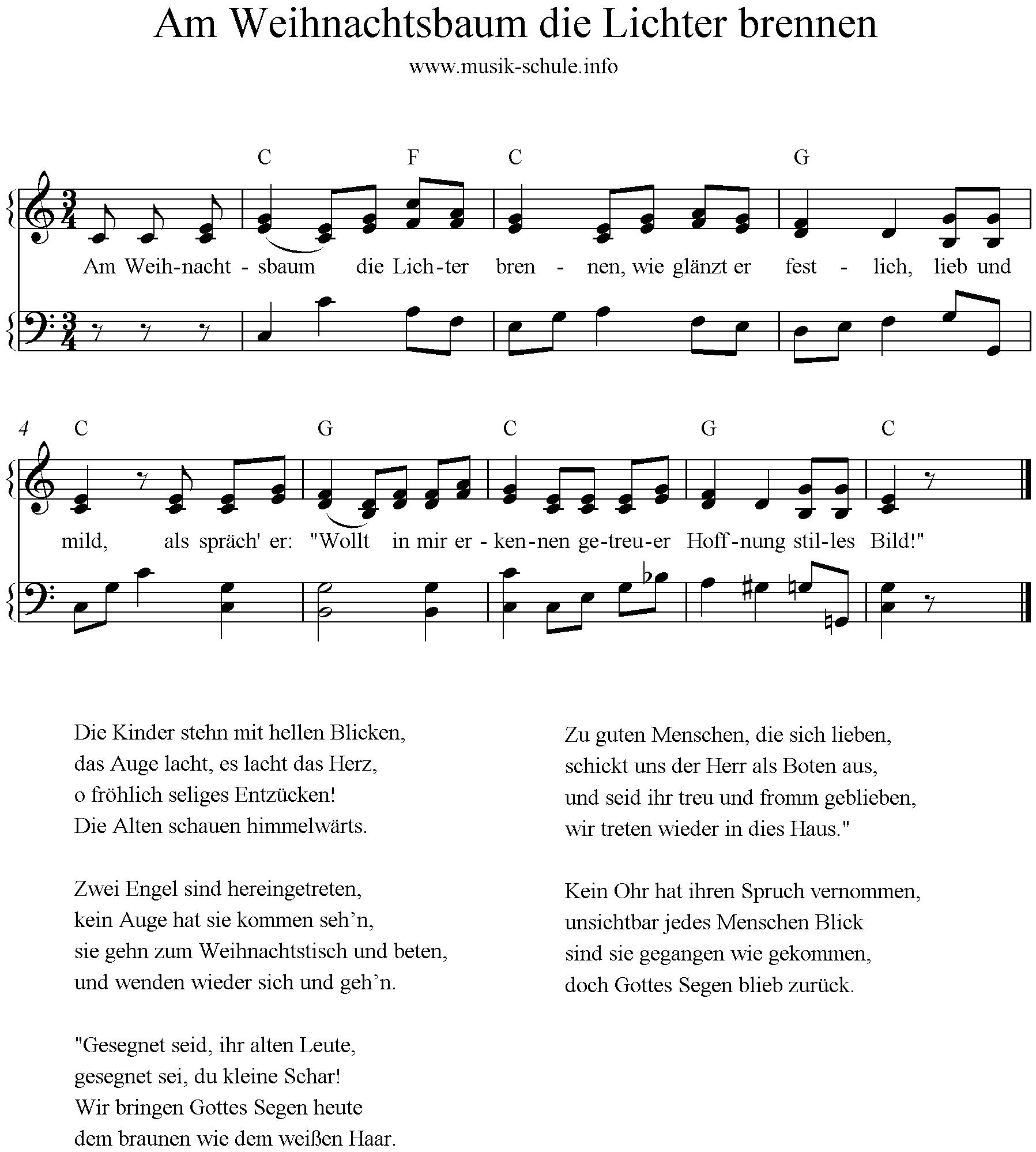 Gedicht am weihnachtsbaum die lichter brennen