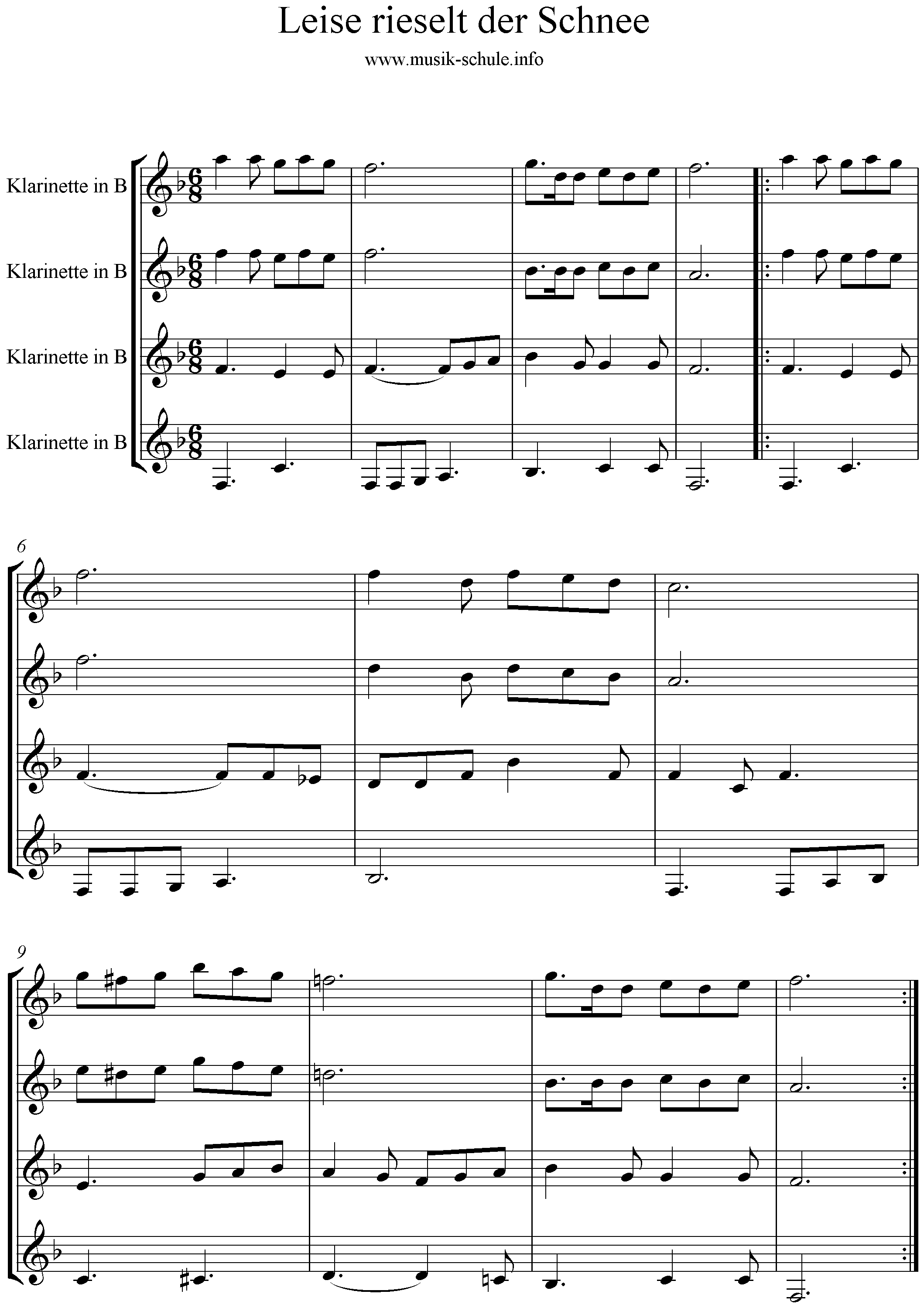 Quartett- Leise rieselt - Musikschule Stadt Haag