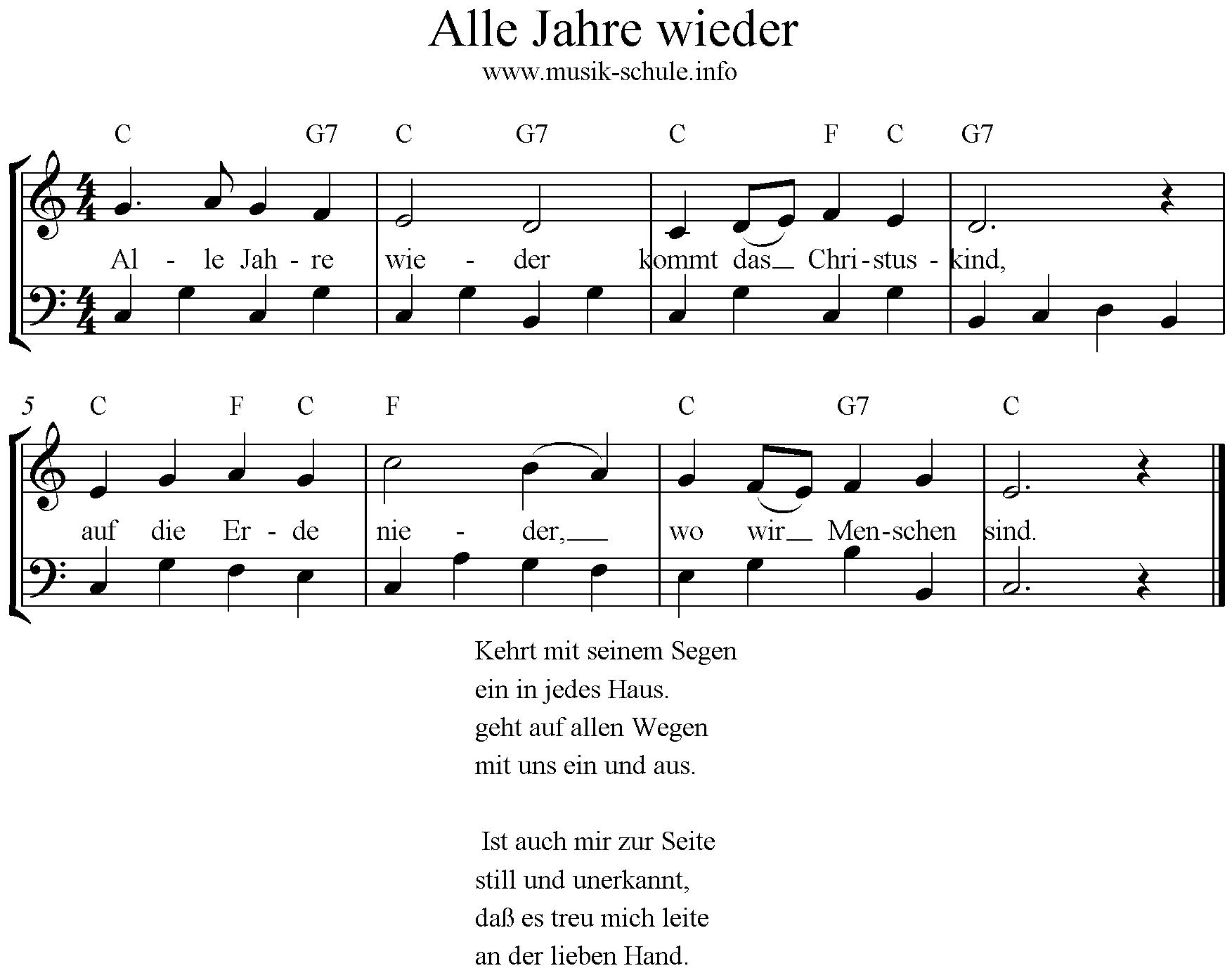 Alle Jahre wieder - Musikschule Stadt Haag