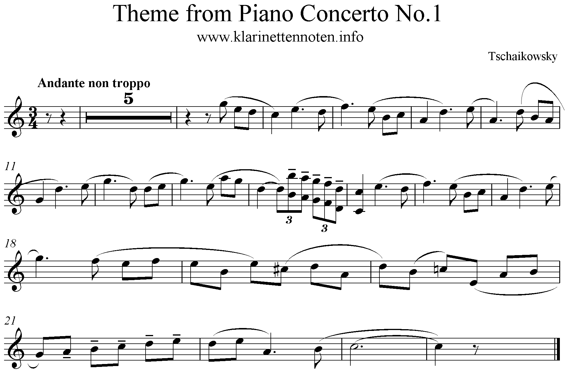 Theme from Piano Concerto No. 1 Tschaikowsky