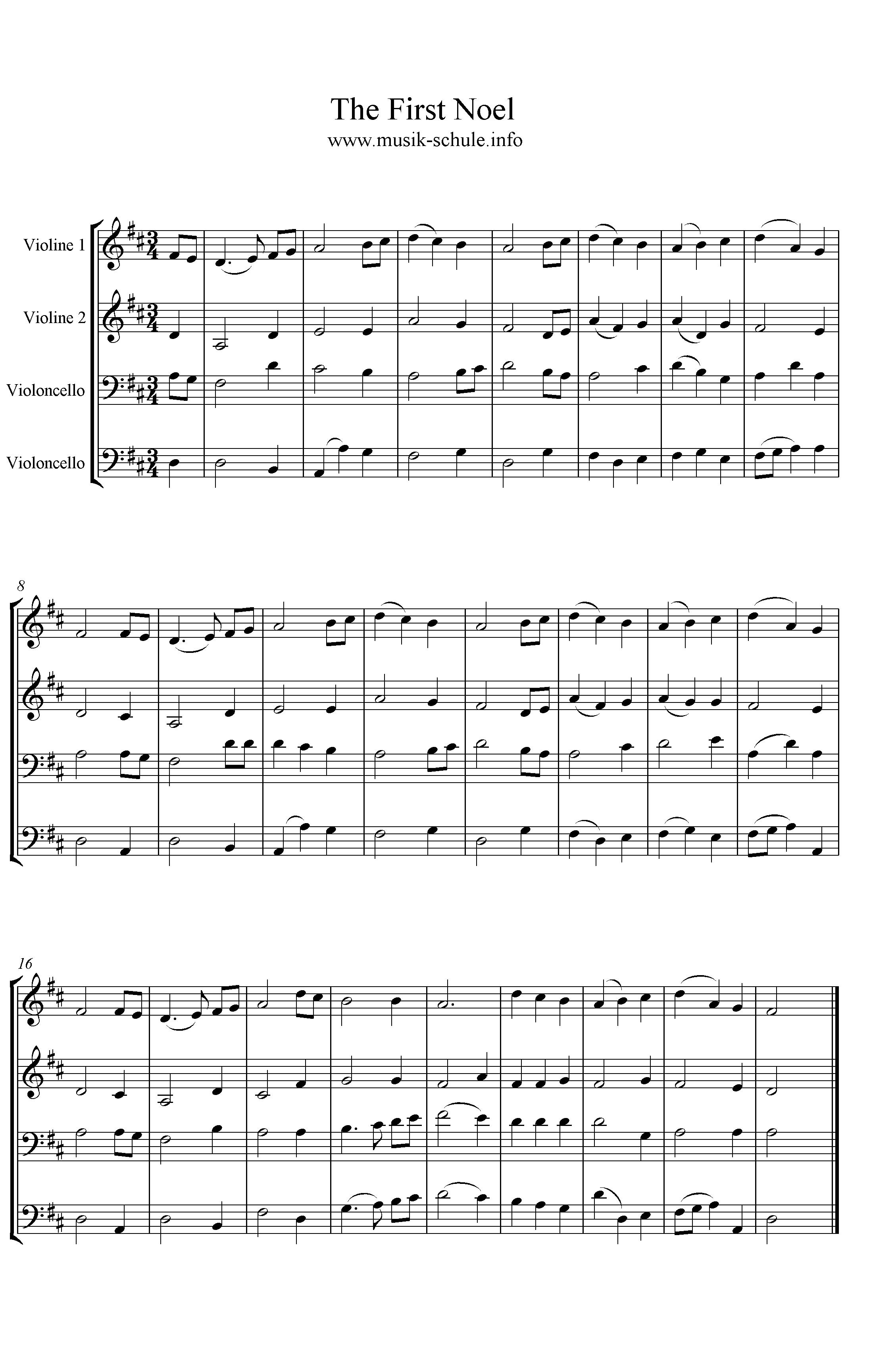 The First Noel - Quartett